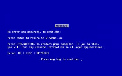 Windows_9X_BSOD